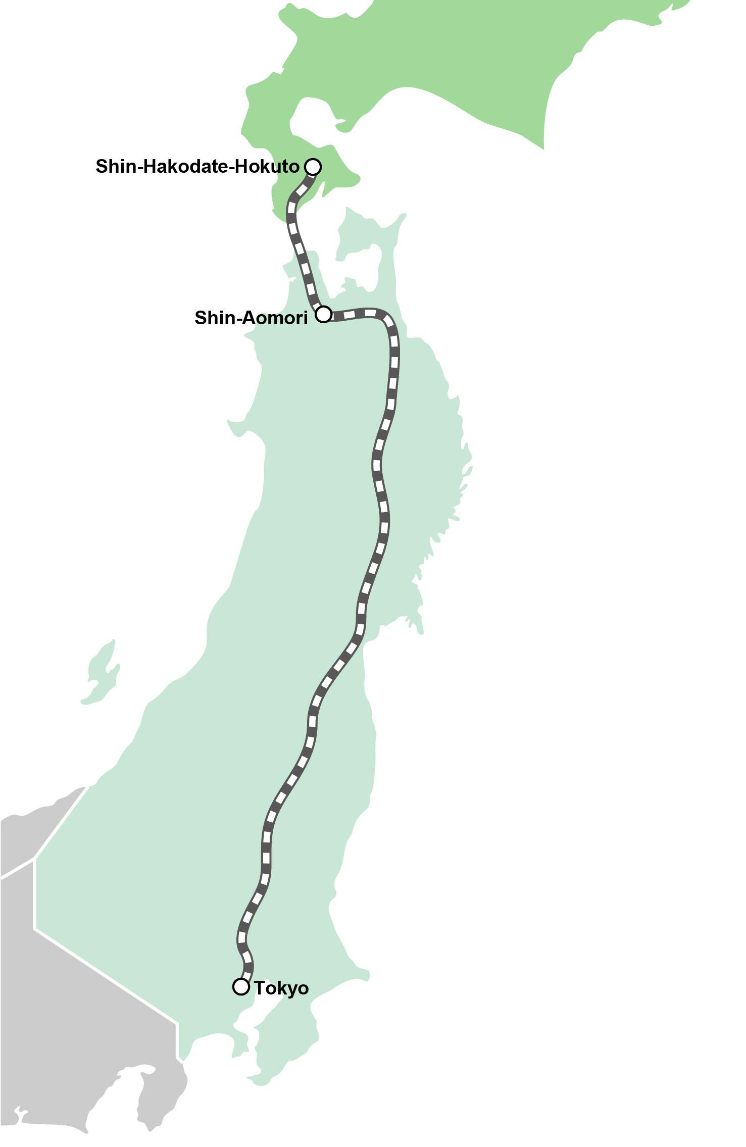 routemap_Hokkaido Shinkansen: Hayabusa
