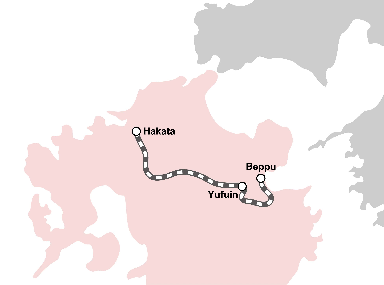 route map : Yufuin no Mori