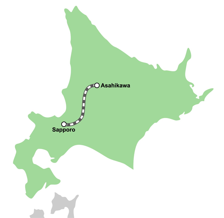 route map : Ltd.Exp.Lilac Asahiyama Zoo Train