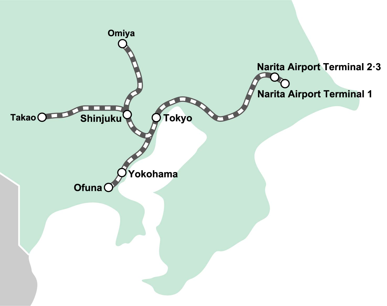 route map : Narita Express