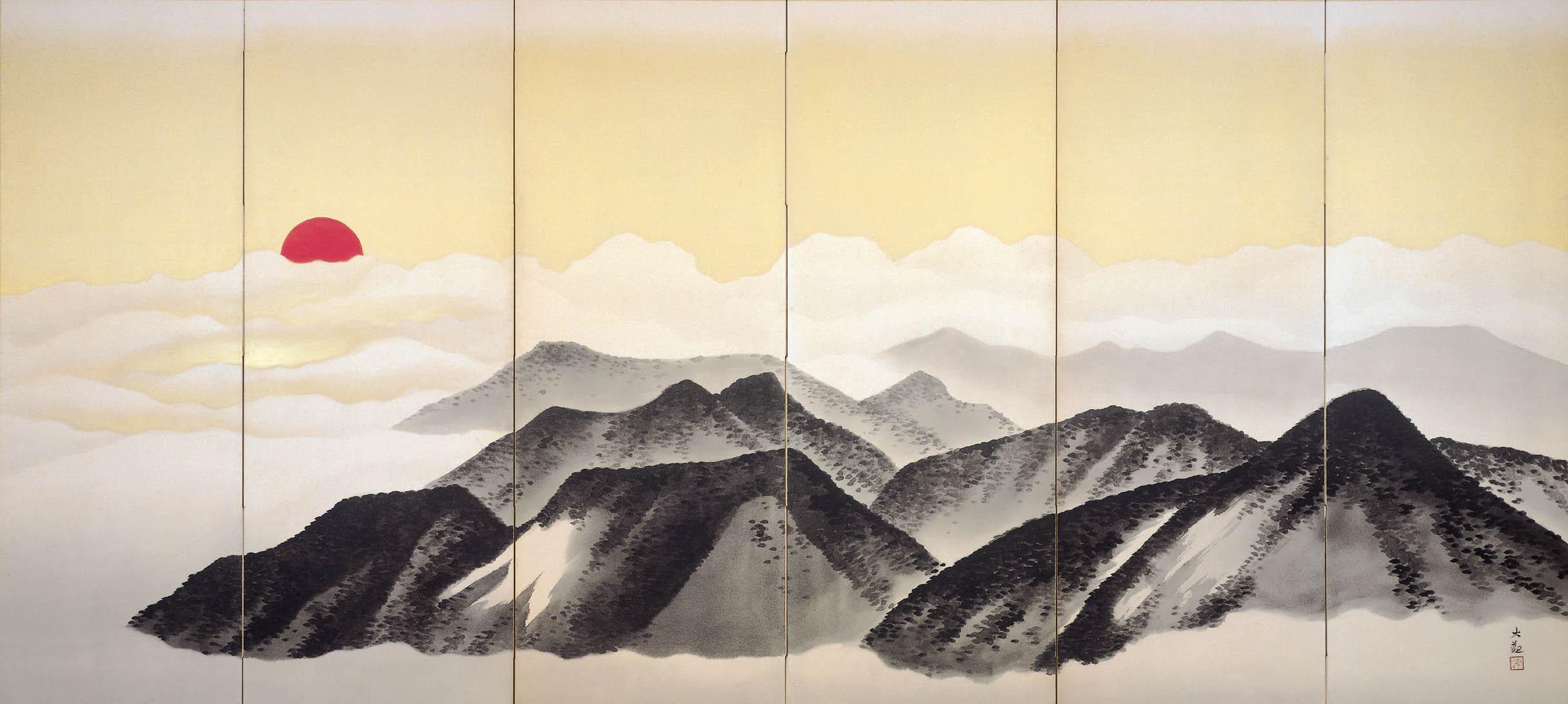 "(c) The Dry Landscape Garden, Yokoyama Taikan ""Mt. Fuji"" (1932)"