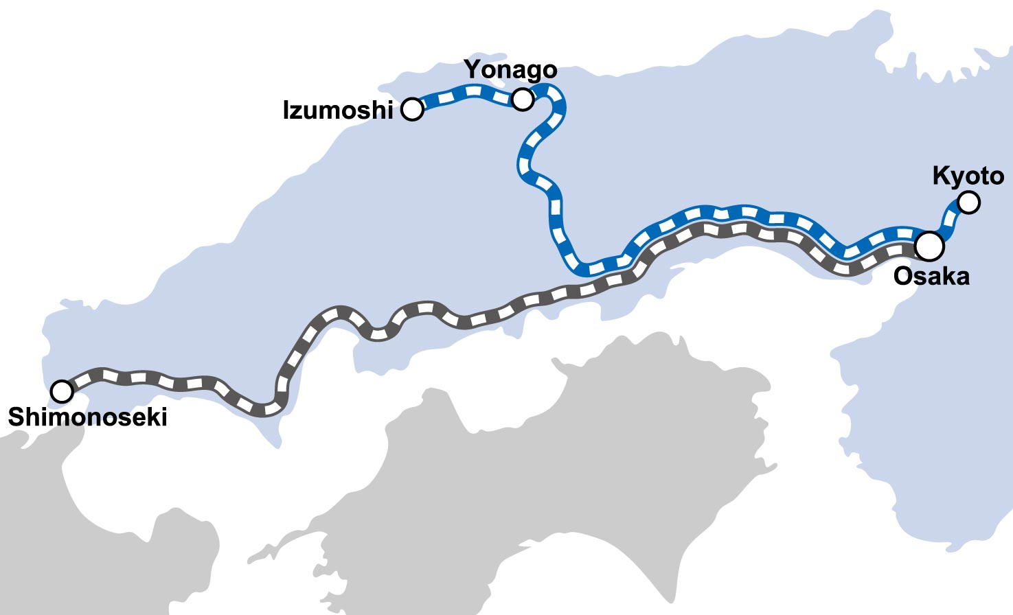 WEST EXPRESS GINGA Route Map